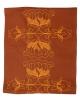 Chemin de table Lotus / Rouille, coton pur, fabrication française