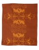 Table runner Lotus / Rusty, in pure cotton. Made in France.