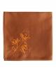Serviette en coton pur, brodée de fleurs de lotus, confectionnée en France