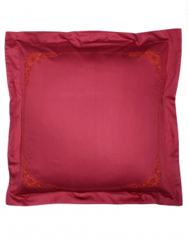 Square pillow case FLOREAL / ORANGE