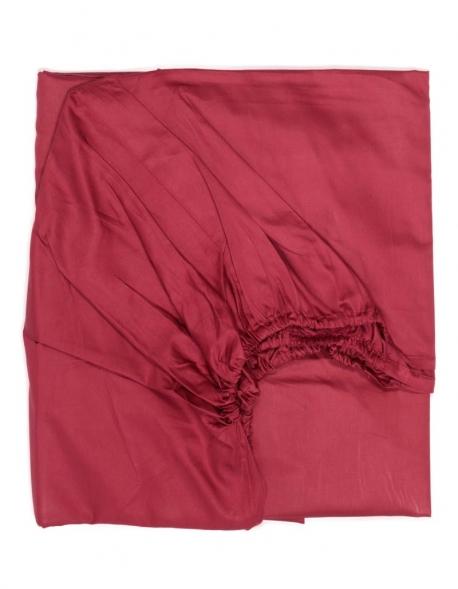 drap housse 160 200 180 200 200 200 satin de coton framboise. Black Bedroom Furniture Sets. Home Design Ideas
