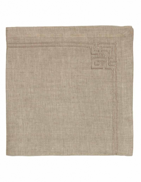 embroidered table napkin in pure linen