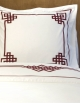 Square pillow case AURORE N°24 in satten of cotton made in France