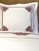 Taie d'oreiller carré AURORE N°24 en satin de coton fabriqué en France