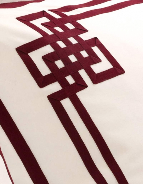 Taie d'oreiller rectangulaire AURORE N°24 en satin de coton fabriqué en France