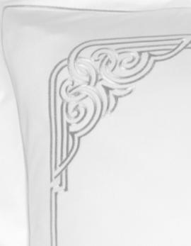 Taie d'oreiller rectangulaire ART DECO / ARGENT
