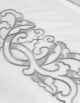 Duvet cover ALTAÏ SILVER embroidered on sateen of cotton