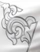 Taie d'oreiller rectangulaire brodée ALTAÏ ARGENT