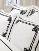 Taie d'oreiller rectangulaire NIGHT&DAY N°24 en satin de coton fabriqué en France