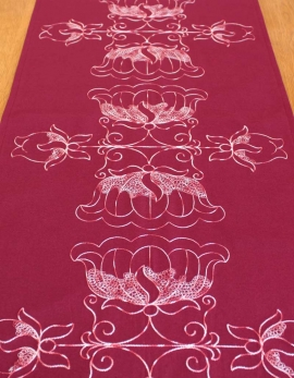 Table runner LOTUS / PLUM