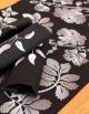 Chemin de table Ana Maria / Nuit argentée, coton pur, fabication française