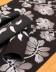 Table runner Ana Maria / Glittering night, in pure cotton. Made in France.