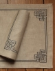 embroidered place mat in pure linen
