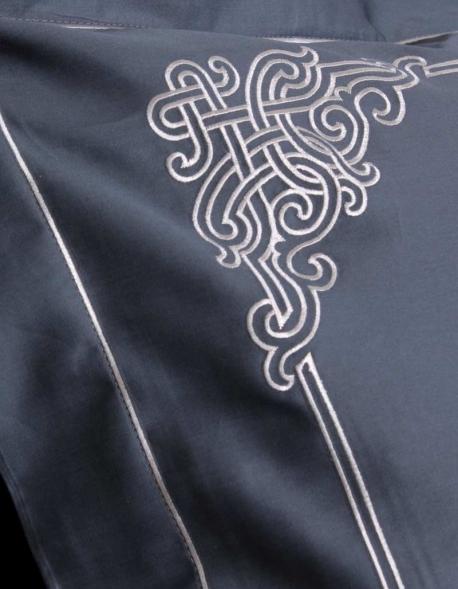 Rectangular pillowcase BLUE NAADAM, made in France
