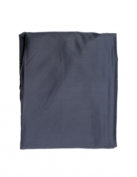 Fitted sheet sateen of coton blue slate color
