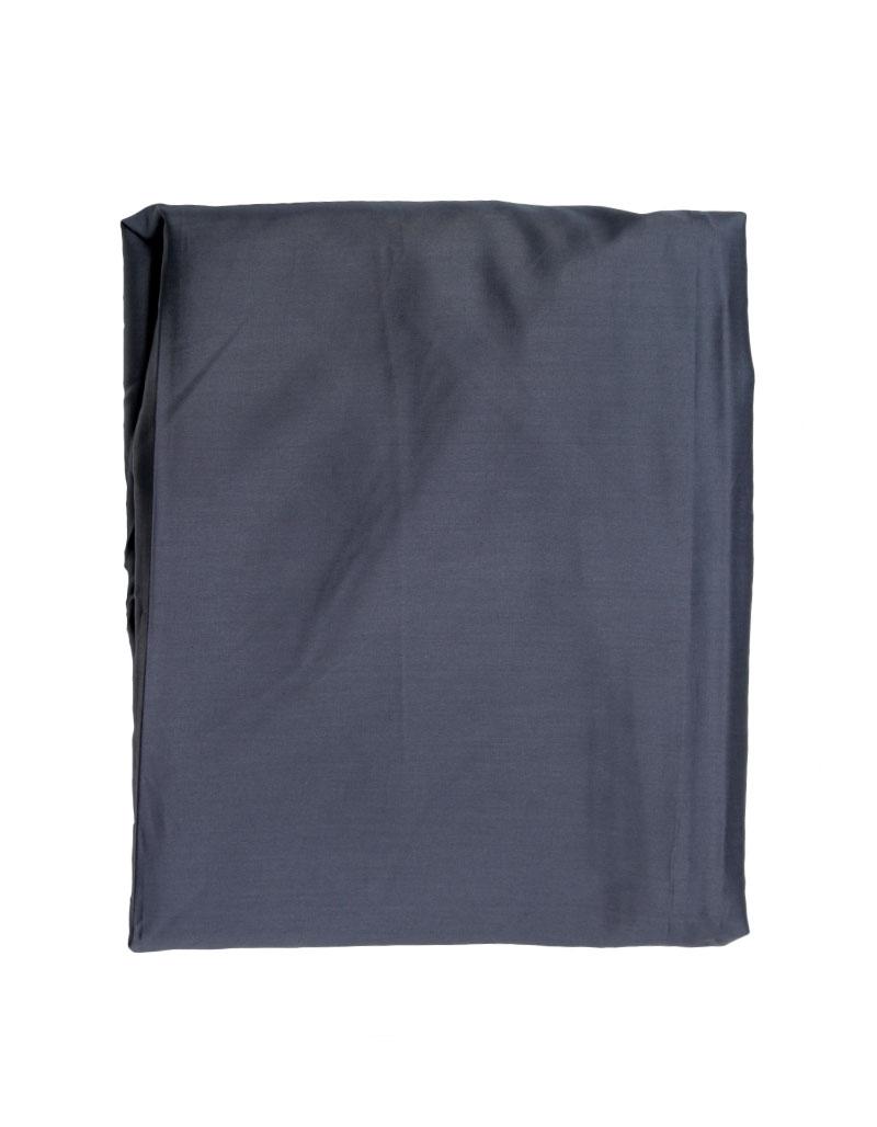 drap housse bleu ardoise satin coton grand bonnet 40 sur mesure. Black Bedroom Furniture Sets. Home Design Ideas