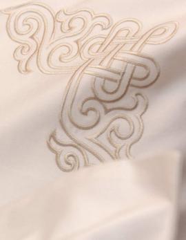 Taie d'oreiller carré brodée NAADAM / GOLD