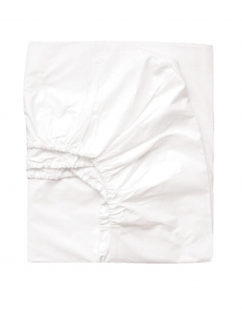 FITTED SHEET WHITE PERCALE 280TC