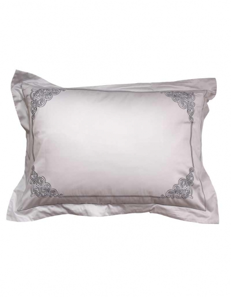 Rectangular grey pillowcase Zen Garden