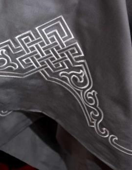 Grey bolster cover ZEN GARDEN