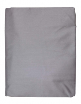 Fitted sheet in dark grey satin of coton