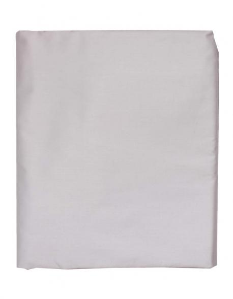 Drap housse satin de coton gris clair