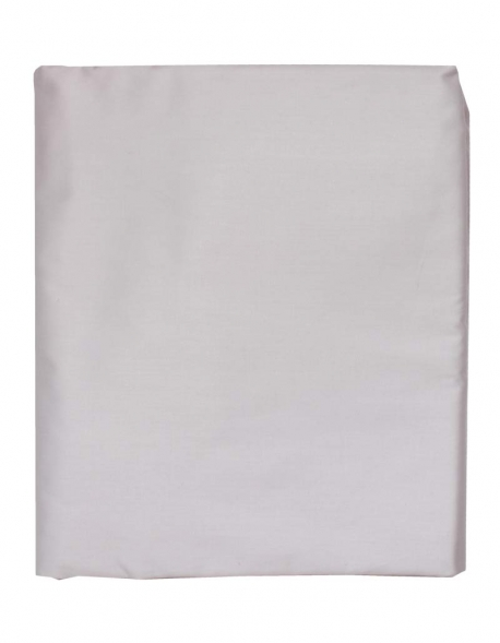 Fitted sheet in light grey satin of coton