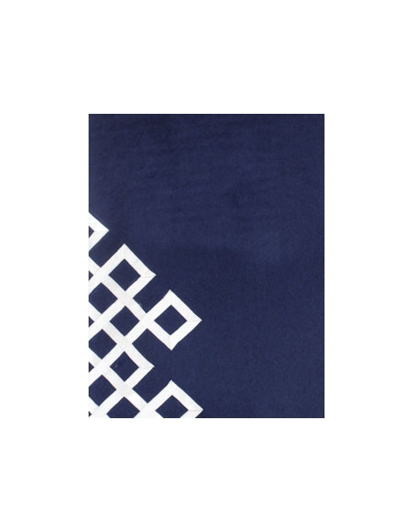 blue bed runner - pure cashmere