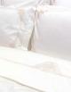 Housse de couette blanche brodée satin de coton