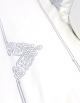 White duvet cover, silver embroidery NAADAM / SILVER