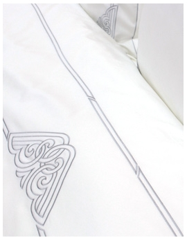 Top sheet ART DECO / SILVER