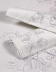 Tête à tête Lotus / Silver et ses deux serviettes
