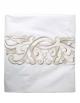 Drap plat ART NOUVEAU GOLD, satin de coton blanc, broderie couleur or