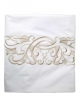 Flat sheet ART NOUVEAU GOLD, white satin of cotton with golden embroidery