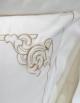 taie d'oreiller blanche brodée couleur or Art Nouveau Gold