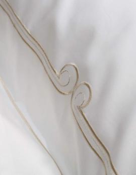 Square pillow case ART NOUVEAU / GOLD